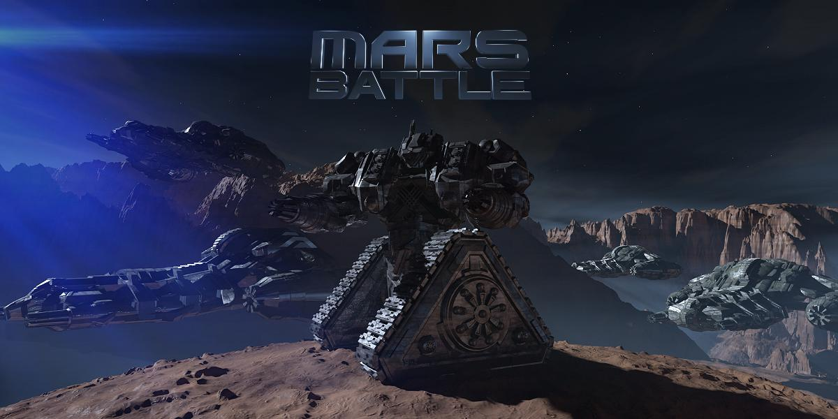 Mars Battle offers many options and strategies. At Mars Battle, you can build ground, such as mech robots and flying units.